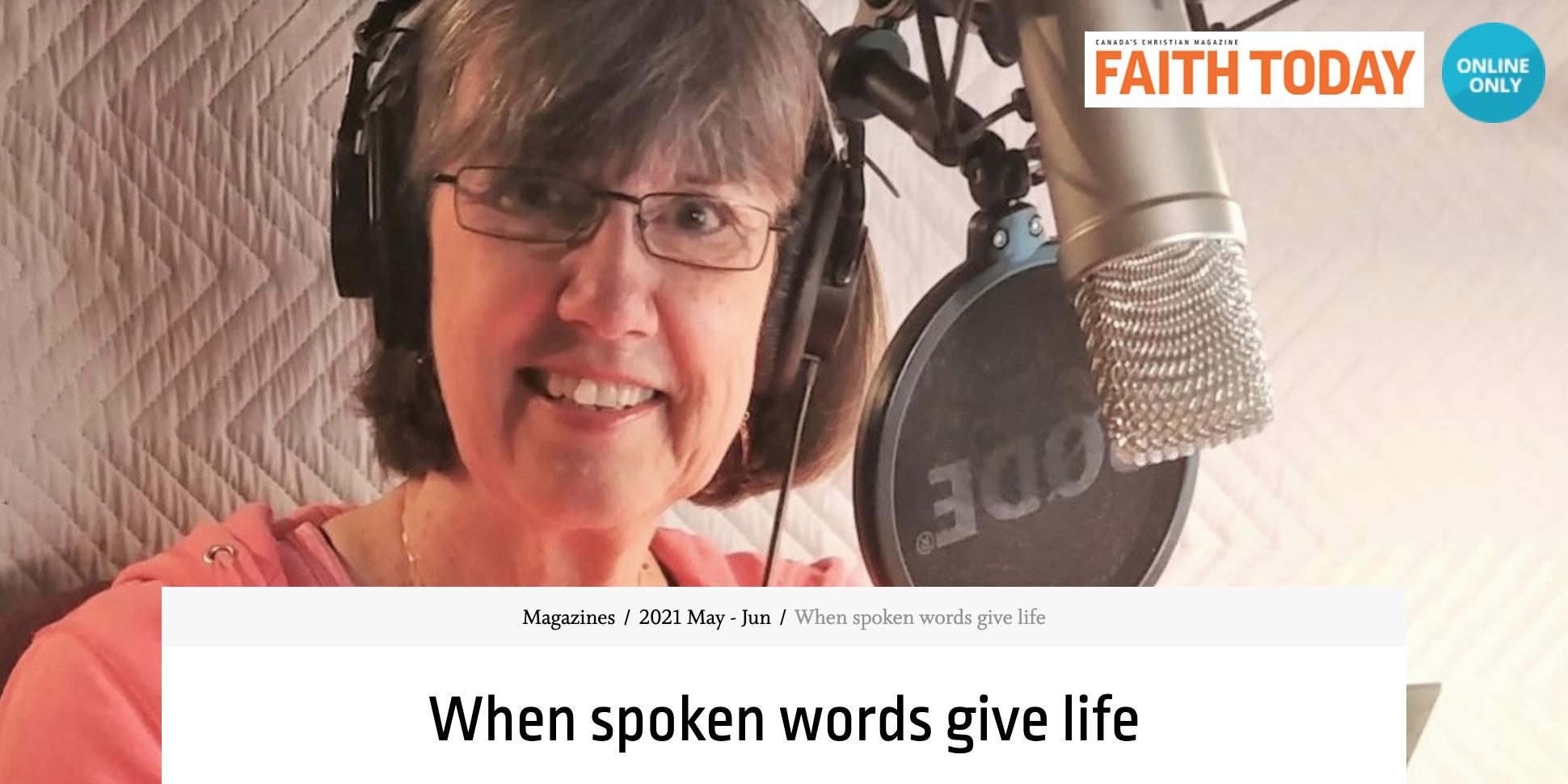 TBL Featured on Faith Today